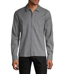 regular-fit zip-up shirt