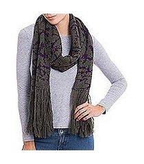 100% alpaca scarf, 'branches in twilight' (peru)