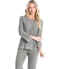pijama capri com renda estela