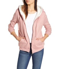 women's bobeau hooded jacket, size small - orange