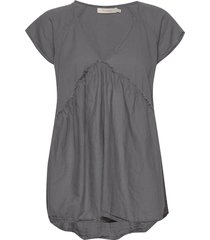 julianna t-shirts & tops short-sleeved grå rabens sal r