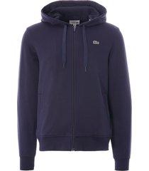 lacoste full zip sport hoodie | navy | sh1551-423