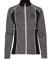 hmlselby zip jacket sweat-shirt tröja grå hummel