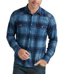 lucky brand men's santa fe western plaid shirt