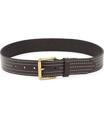 flat-stitched leather belt
