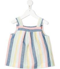 bonpoint wide stripes dress - pink