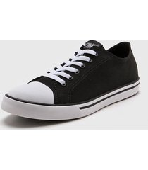 zapatilla negra pony urban canvas ox