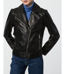 bernardo smooth leather moto jacket