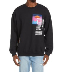 men's topman reason 4 graphic sweatshirt, size large - black