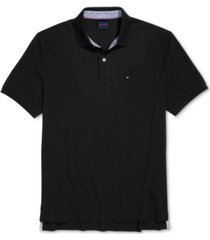 tommy hilfiger adaptive men's classic-fit ivy polo shirt with magnetic closure