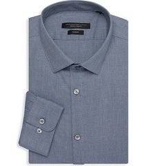 slim-fit textured dress shirt