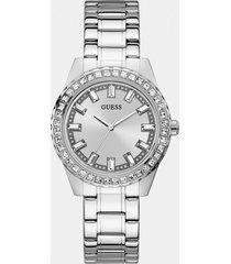 analogowy zegarek z kryształkami