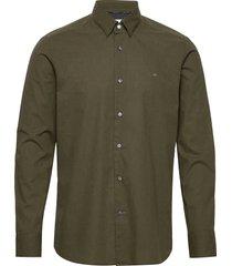 light heather poplin shirt overhemd casual groen calvin klein