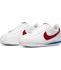 9-zapatillas de hombre nike cortez basic leather-blanco