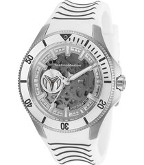reloj technomarine tm-118021 gris blanco silicona