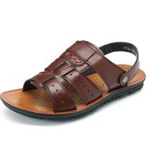 sandali in cuoio impermeabile traspirante a grande taglia