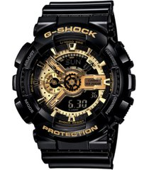 g-shock men's analog digital black resin strap watch