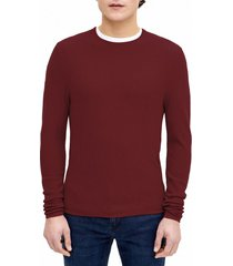 sweater casual textura rojo perry ellis