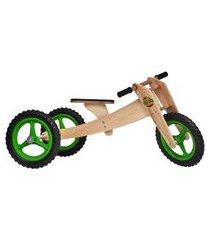 bicicleta camará movelaria de madeira woodbike - 3 estágios - woodline - verde