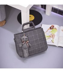 bolsos de mujer,bolso bandolera, mensajero rombal-gris