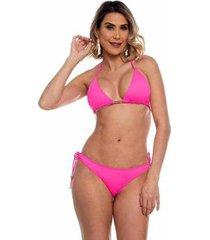 biquini cortininha ripple neon maré brasil feminino - feminino