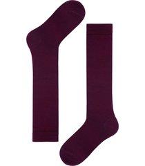 calzedonia - long wool and cotton socks, 44-45, burgundy, men