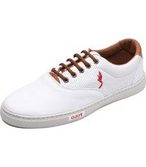 tãªnis sapatenis casual fashion 700 branco - branco - masculino - couro sintã©tico - dafiti