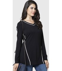 sweater nautica negro - calce regular
