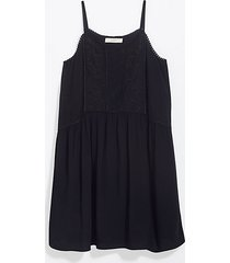 loft lacy embroidered strappy swing dress