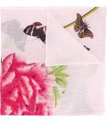 faliero sarti coralie frayed scarf - pink