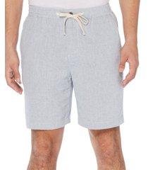 "original penguin men's feeder stripe 8"" drawstring shorts"