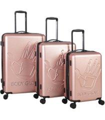body glove redondo 3 piece hardside luggage set