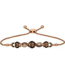 14k strawberry gold® & chocolate quartz® & chocolate diamonds® bolo bracelet