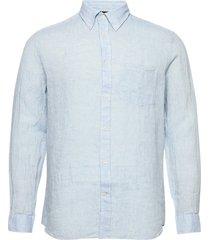 daniel bd-linen melange overhemd casual blauw j. lindeberg