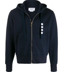 4-bar drawcord zip-up hoodie