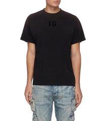 fleece logo cotton jersey t-shirt