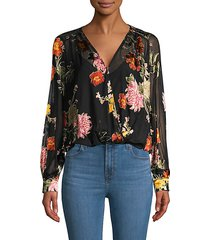 margo floral chiffon top bodysuit