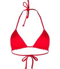 mara hoffman textured bikini top