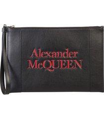 alexander mcqueen branded pouch