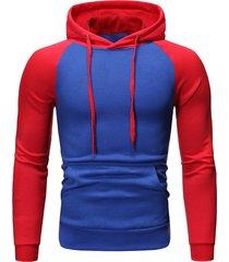 raglan sleeve fleeces drawstring hoodie