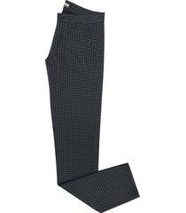 pantalón dril casual pierre d'agostiny para hombre, ref cuadros negro
