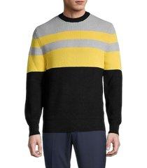 j. lindeberg men's hendrick colorblock sweater - black - size s