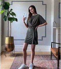 lou & grey fluidrib dolman mini dress