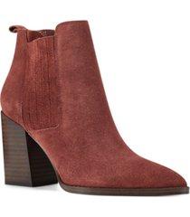 nine west women's medium beata block heel ankle booties women's shoes