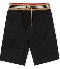 bermuda shorts with drawstring iconic striped motif