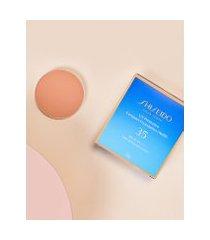 amaro feminino shiseido protetor solar facial compacto fps35 refil uv protective compact foundation - 12g, light ochre