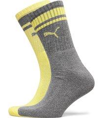 puma crew heritage stripe 2p unisex underwear socks regular socks grå puma