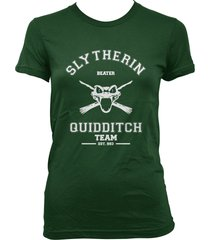 beater old slytherin quidditch team women tee forest green s to 3xl
