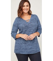 gather round pullover sweater