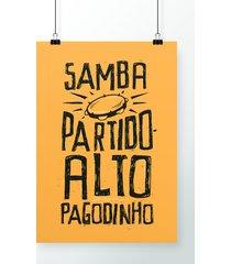 poster samba, partido alto, pagodinho